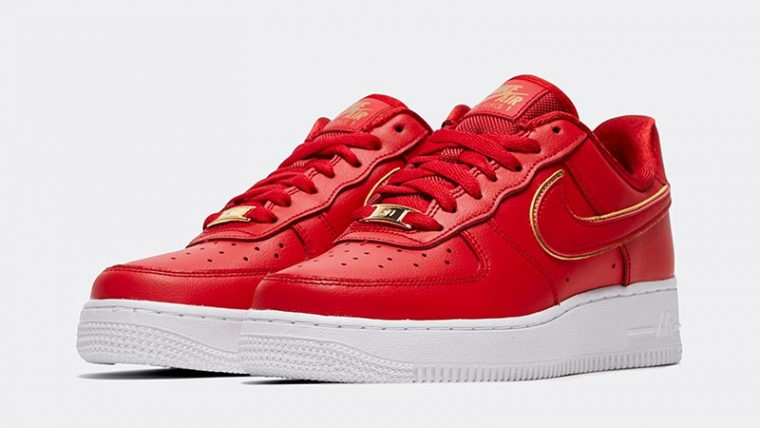 Nike Air Force 1 07 Essential Red front thumbnail image