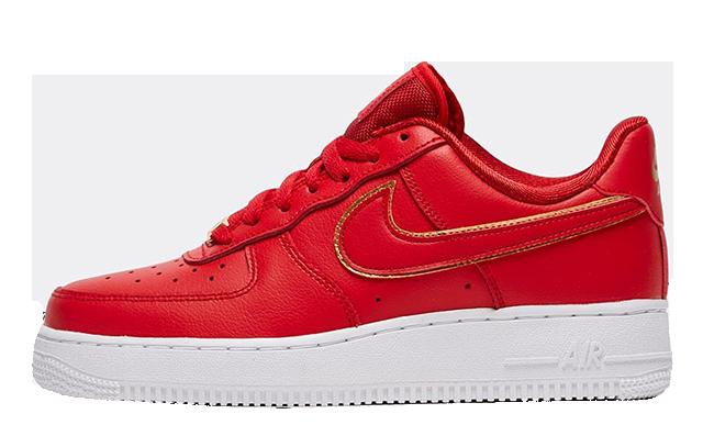 Nike Air Force 1 07 Essential Red Eneste kvinder  The Sole Womens