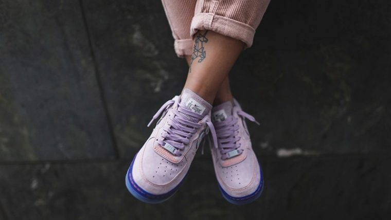 Nike Air Force 1 07 LX Purple Agate CT7358-500 on foot thumbnail image