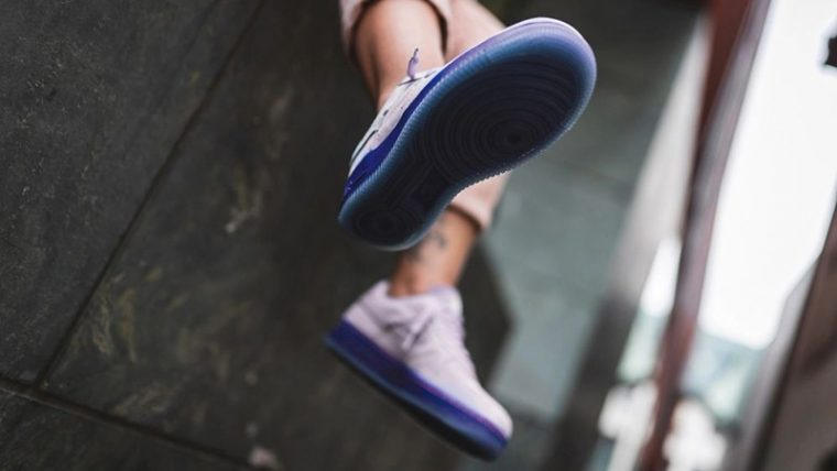 Nike Air Force 1 07 LX Purple Agate CT7358-500 on foot sole thumbnail image