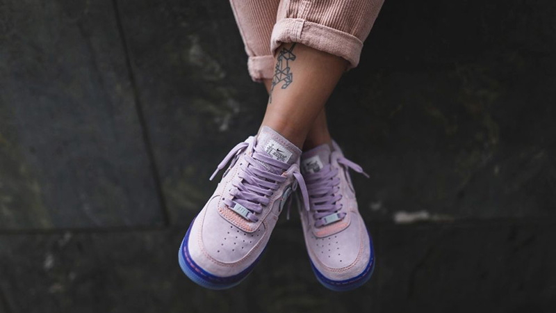 Nike Air Force 1 07 LX Purple Agate CT7358-500 on foot