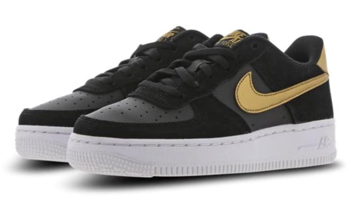 Nike Air Force 1 Black Metallic Gold