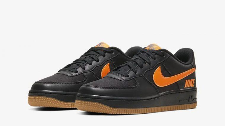 Nike Air Force 1 LV8 5 Black Orange CQ4215-001 front thumbnail image