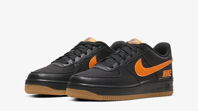 Nike Air Force 1 LV8 5 Black Orange CQ4215-001 front