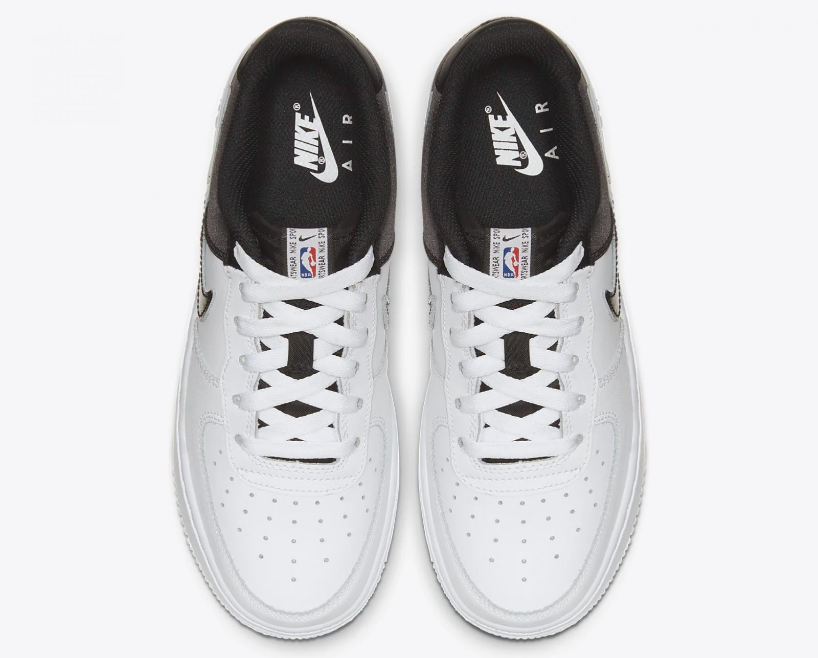 Nike Air Force 1 NBA Low CK0502-100 laces