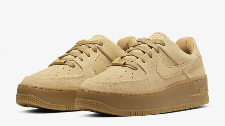 Nike Air Force 1 Sage Low Club Gold CT3432-700 front thumbnail image