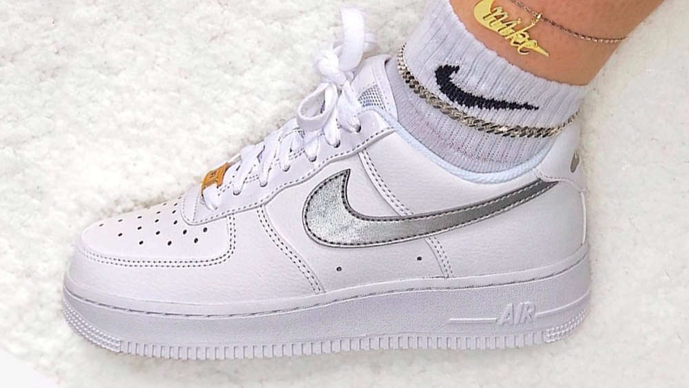 Nike Air Force 1 Silver Gold