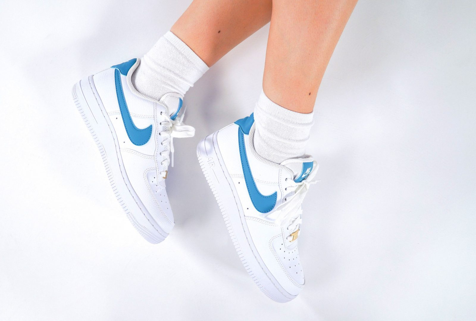 Nike Air Force 1 Teal Nebula The Sole Womens side