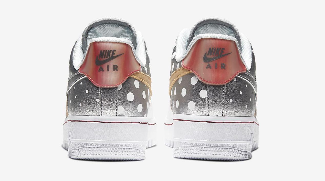 Nike Air Force 1 White Metallic Silver back