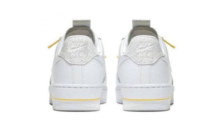 Nike Air Force 1 White Yellow back thumbnail image