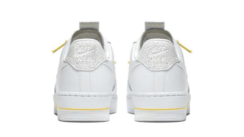 Nike Air Force 1 White Yellow back