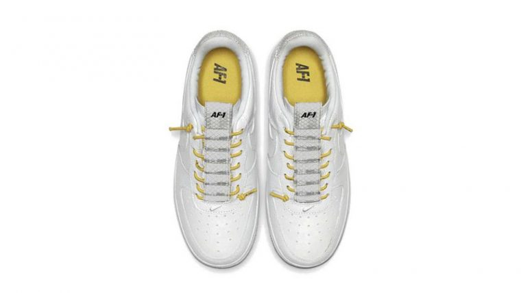 Nike Air Force 1 White Yellow middle thumbnail image