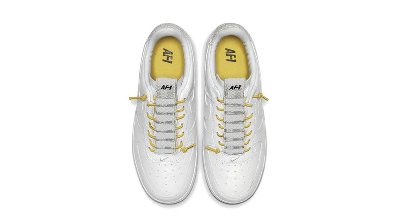 Nike Air Force 1 White Yellow middle