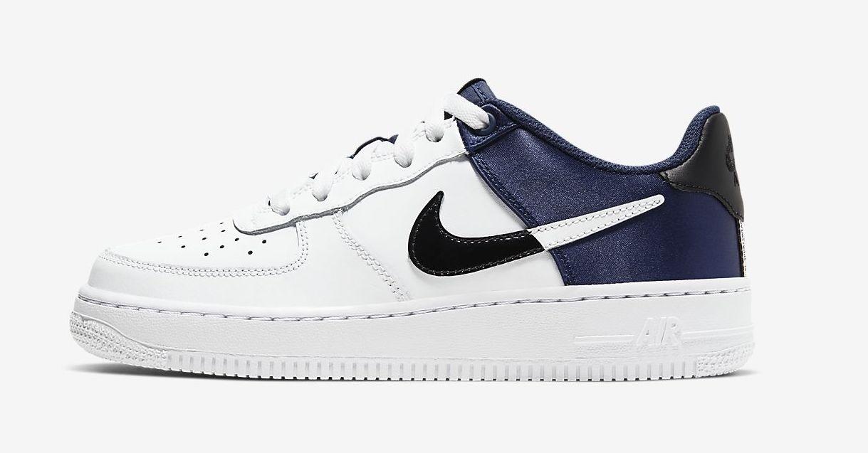 Nike Air Force 1 satin blue