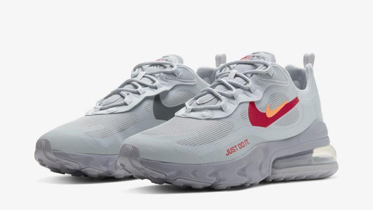 Nike Air Max 270 React Just Do It Grey CT2203-002 front thumbnail image