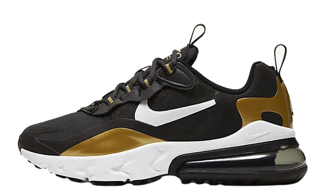Nike Air Max 270 React Kids Black Gold BQ0103-005