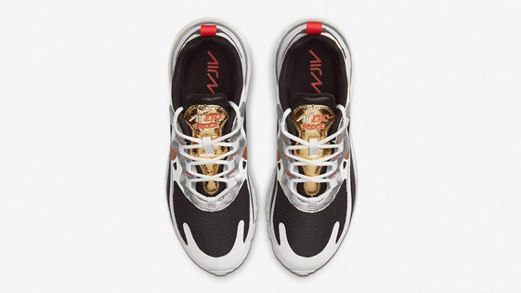 Nike Air Max 270 React Metallic Gold Swoosh CT3433 001 middle thumbnail image