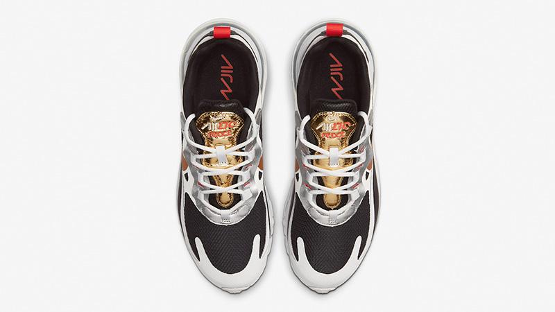 Nike Air Max 270 React Metallic Gold Swoosh CT3433 001 middle