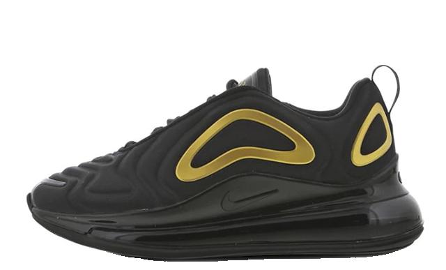 Nike Air Max 720 GS Black Gold AQ3196-014