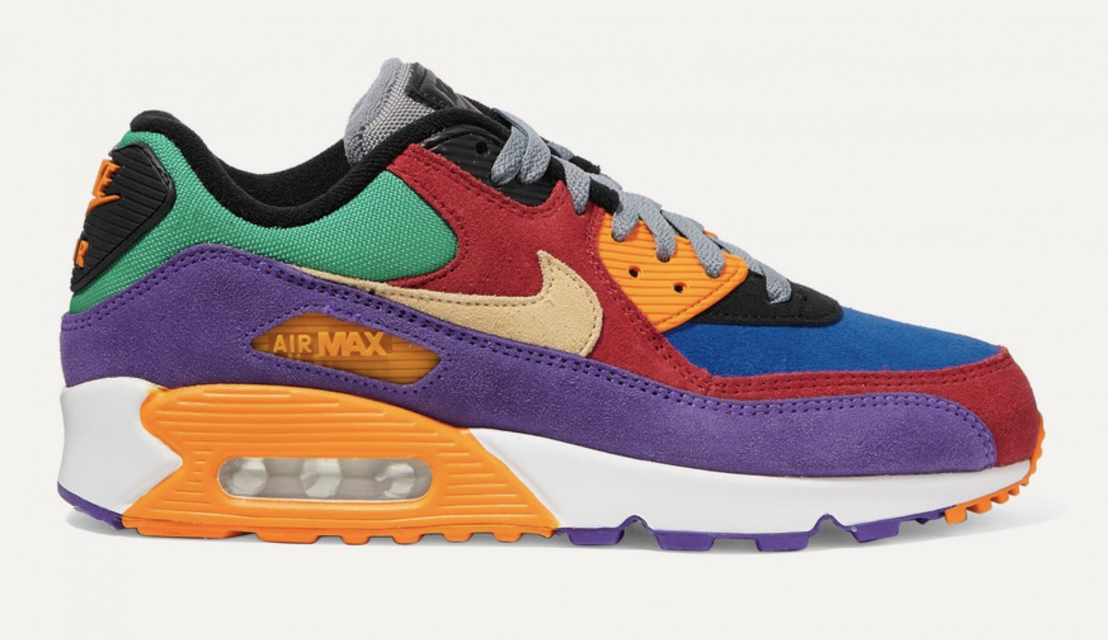 Nike Air Max 90 QS suede and canvas sneakers Viotech