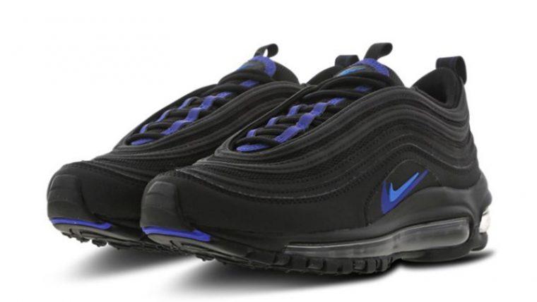 Nike Air Max 97 GS Black Blue CT6025-001 front thumbnail image