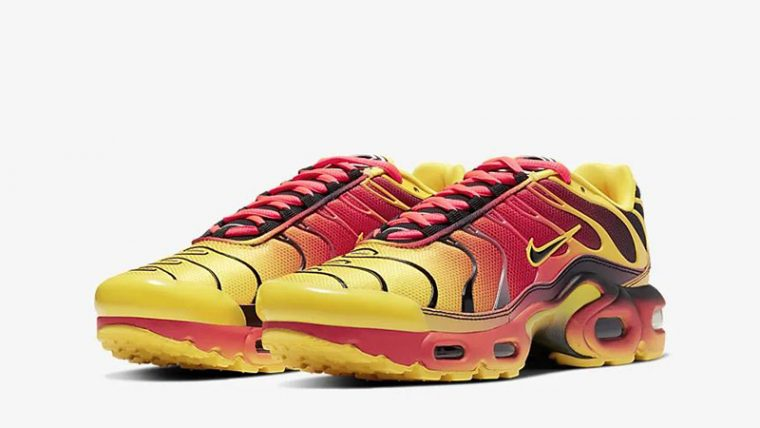 Nike Air Max Plus QS Yellow Crimson CT0962-700 front thumbnail image