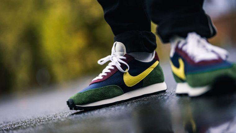 Nike Daybreak Yellow Bonsai CT3441-400 on foot back front thumbnail image