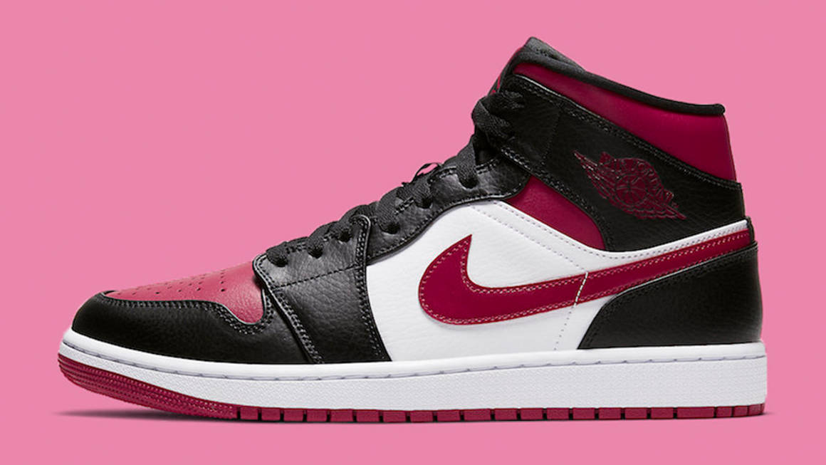 The Nike Air Jordan 1 Mid Gets A Toned Down Bred Toe Makeover