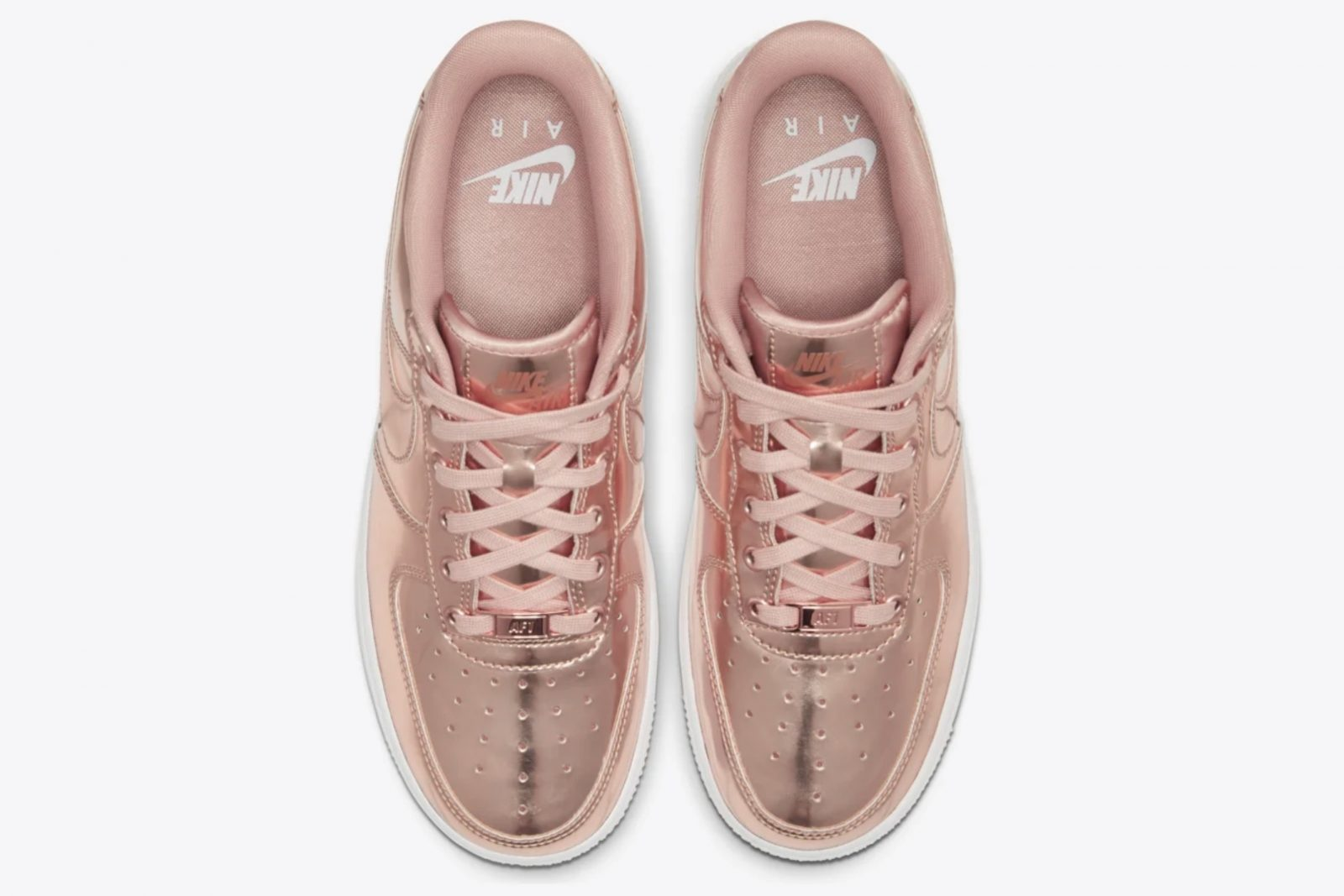 The Wait Is Over For This Metallic Bronze Nike Air Force 1! laces