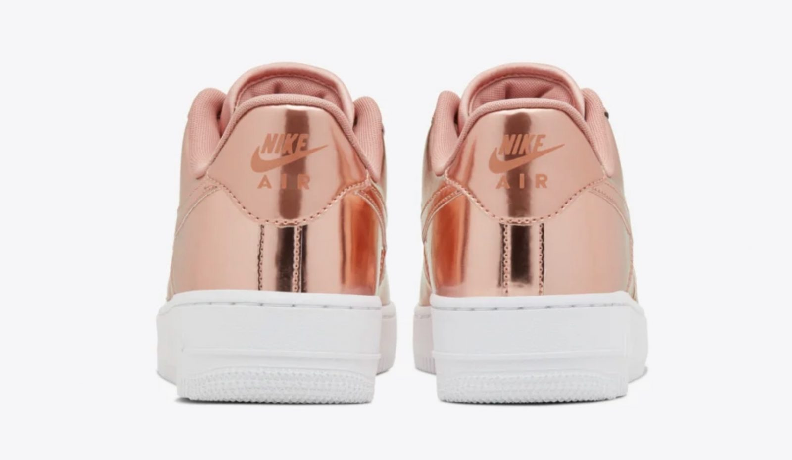The Wait Is Over For This Metallic Bronze Nike Air Force 1! heel