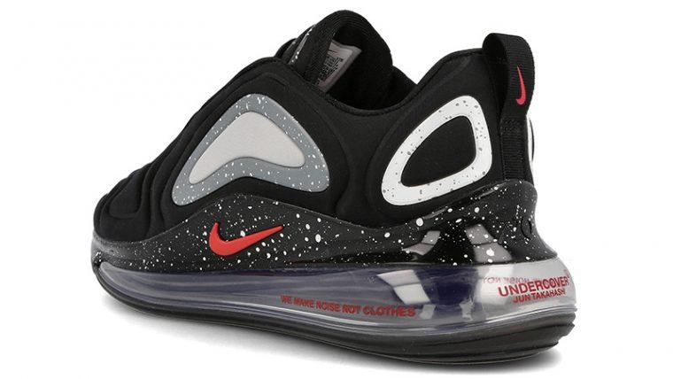 Undercover x Nike Air Max 720 Black CN2408-001 back thumbnail image