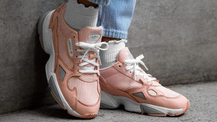 adidas Falcon Pink White EE5122 on foot front thumbnail image