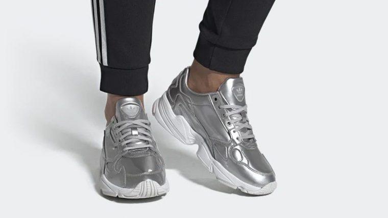 adidas Falcon Silver FV4317 on foot thumbnail image