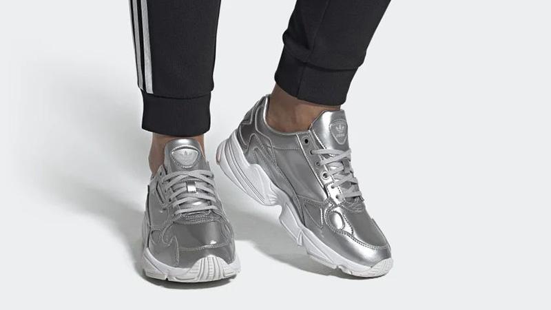 adidas Falcon Silver FV4317 on foot