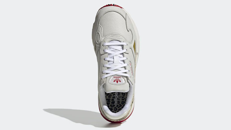 adidas Falcon White Scarlet FV8079 middle