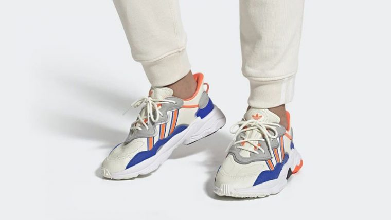 adidas Ozweego White Multi FV3576 on foot thumbnail image