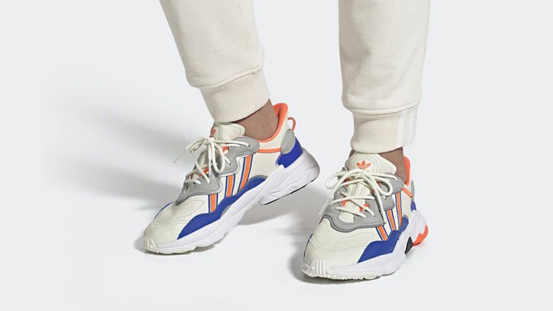 adidas Ozweego White Multi FV3576 on foot