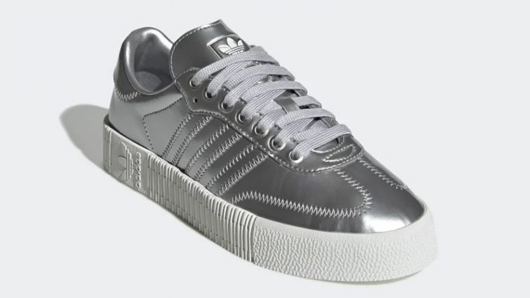 adidas Sambarose Metallic Silver FV4325 front thumbnail image