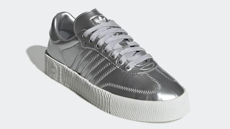 adidas Sambarose Metallic Silver FV4325 front