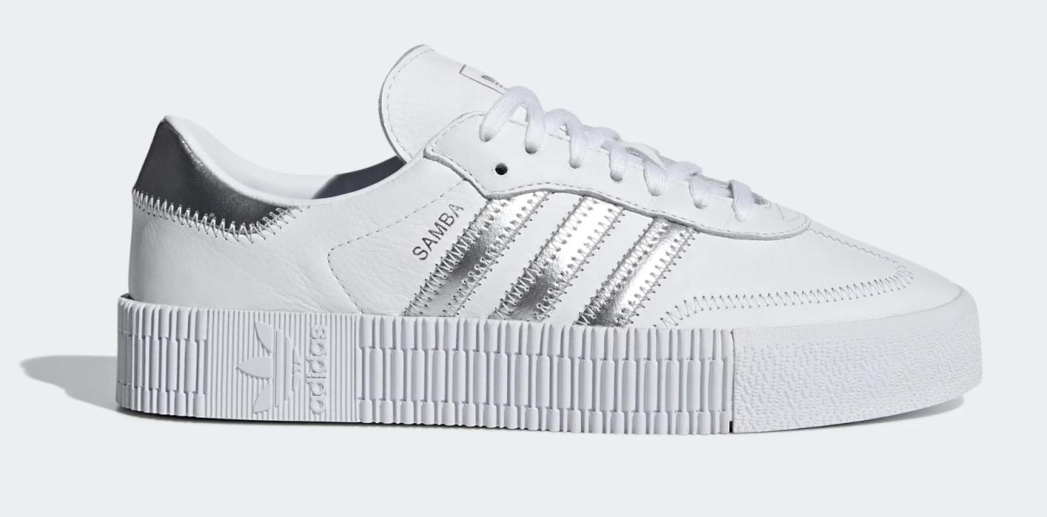 adidas Sambarose White Silver
