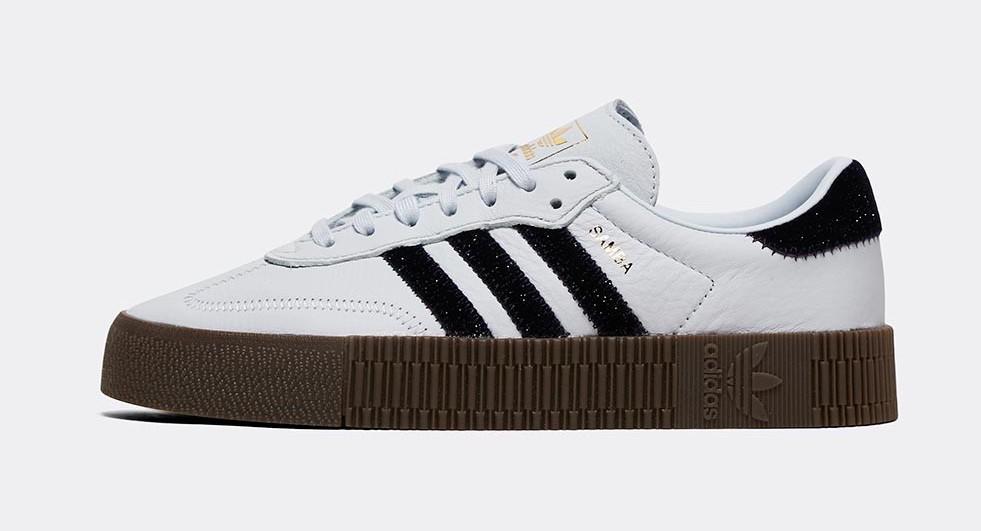 adidas Sambarose white black