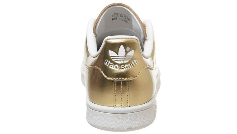 adidas Stan Smith Trainers Gold back thumbnail image