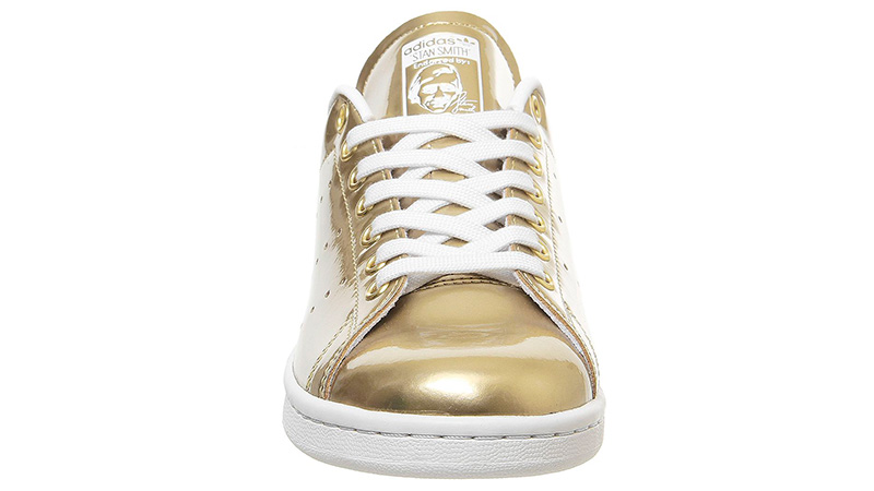 adidas Stan Smith Trainers Gold front