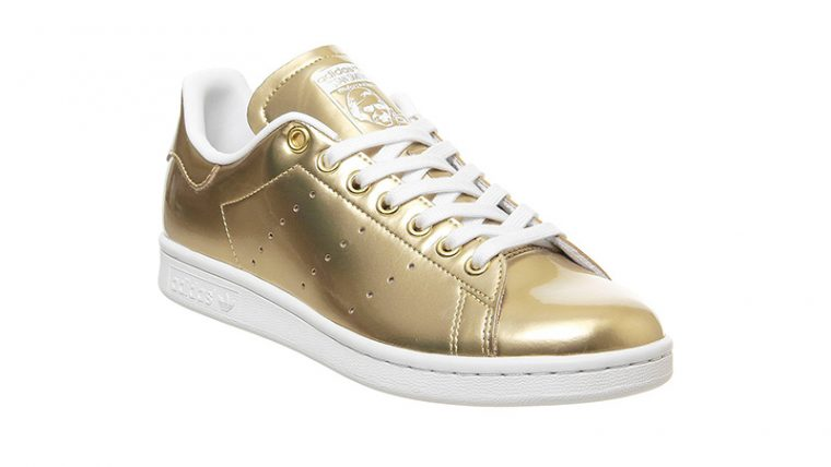 adidas Stan Smith Trainers Gold side thumbnail image