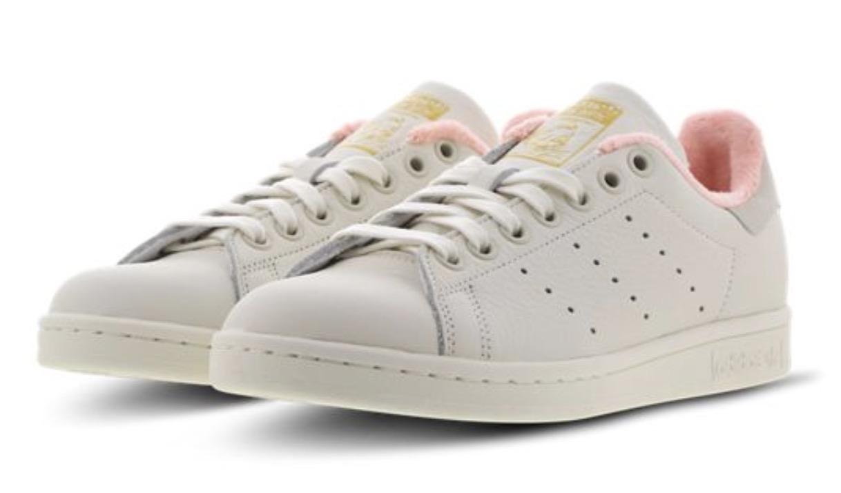 adidas stan smith white pink front