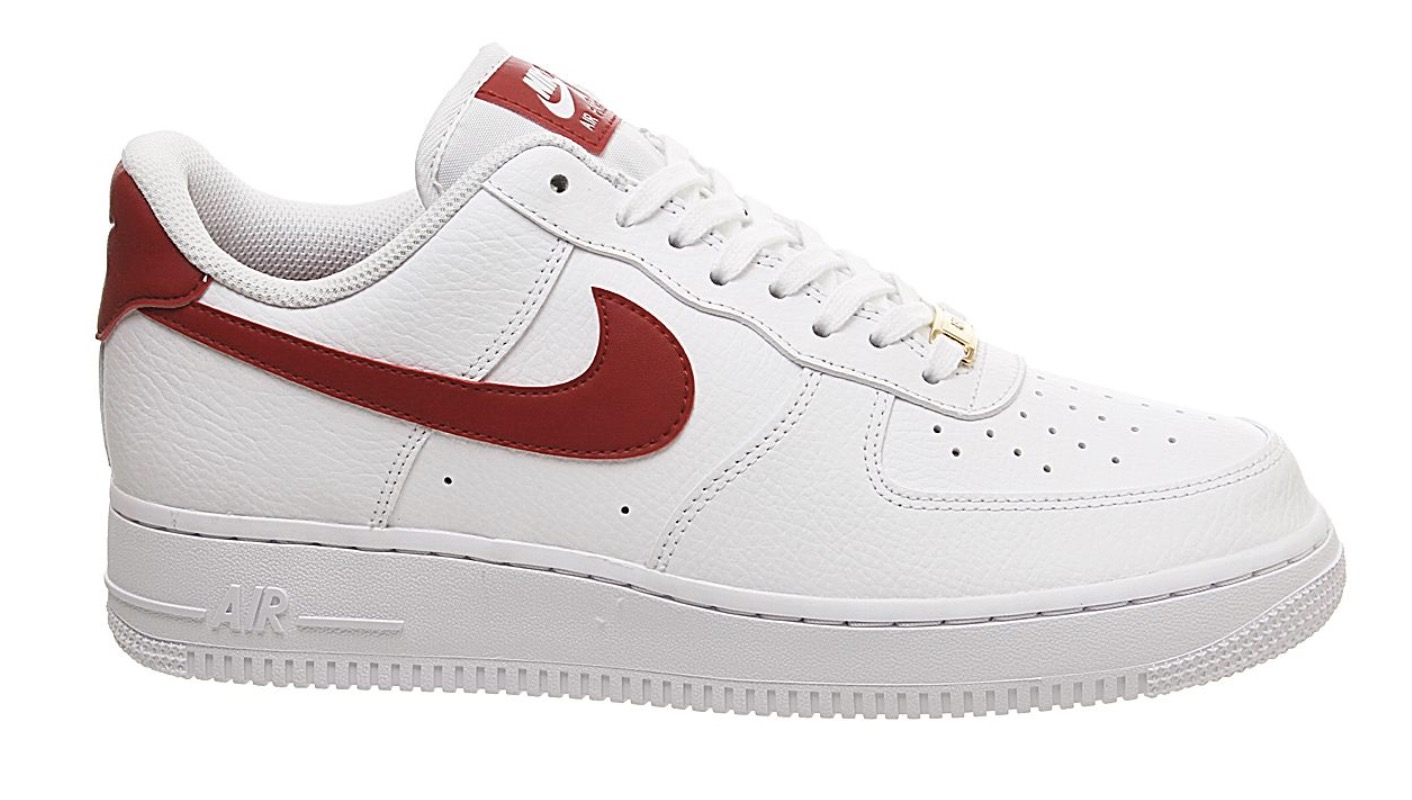 air force 1 white red