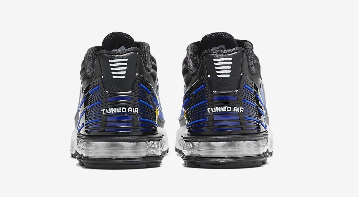 air max plus 3 blue black