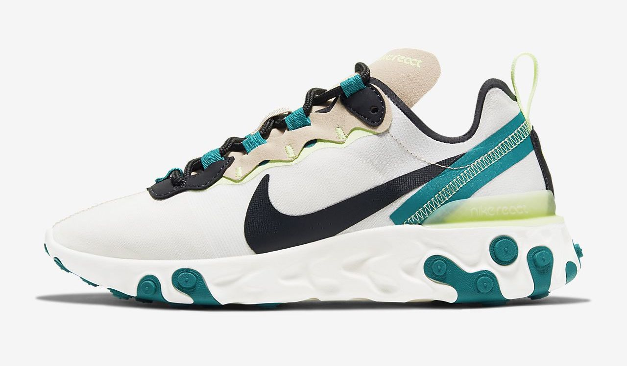 Nike React Element 55 Green Black