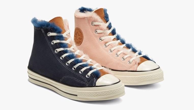 Converse Chuck 70 Hi Shearling.pink blue