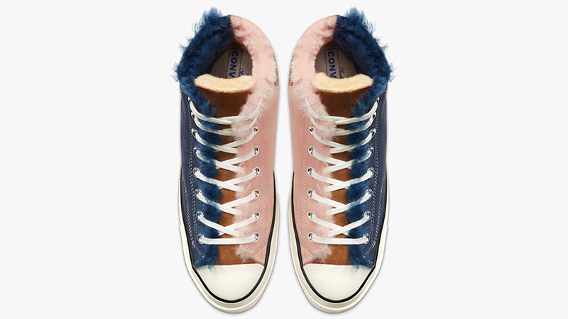 Converse Chuck 70 High Sherpa Navy Pink 166319C middle